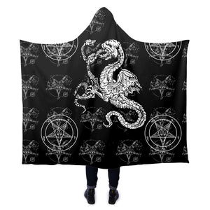 The Serpent Hooded Blanket