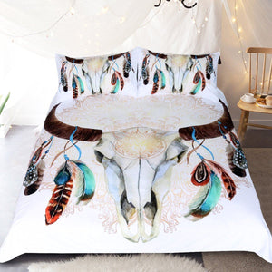 Skull Feather Bedding Set