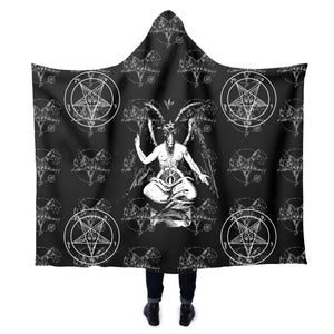 The Baphomet Satanic Hooded Blanket