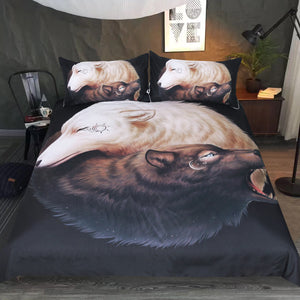 Yin Yang Wolves By JojoesArt Bedding Set