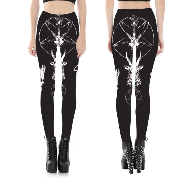 Goat Satanic Fitness Leggings