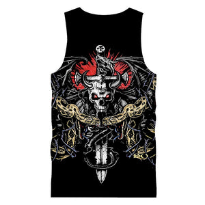 Skull Tank Top Sleeveless