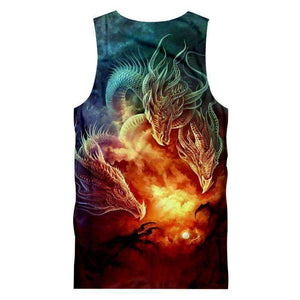 Herogameszone 3-Dragons Tank Top Sleeveless Tank Top Sleeveless