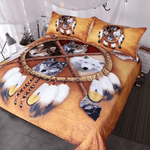 Herogameszone 4 Wolves Duvet Cover Bedding Set Bedding Set