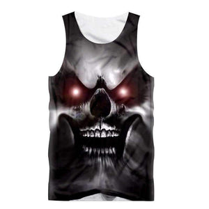 Herogameszone A Wicked Skull Tank Top Sleeveless S Tank Top Sleeveless