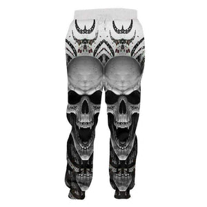 Angle 3D skull Casual Pants Long Sleeve