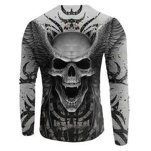 Herogameszone Angel Skull 3D Sweatshirt Long Sleeve 3D Sweatshirt Long Sleeve