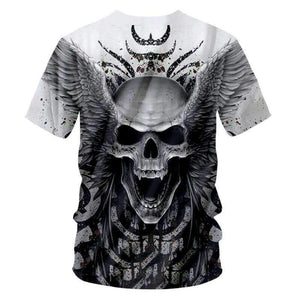 Herogameszone Angel Skull 3D T-Shirt Short Sleeve 3D T-Shirt Short Sleeve