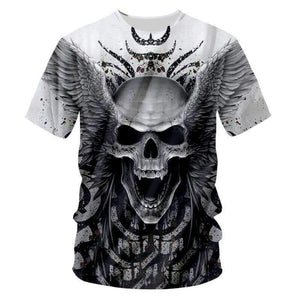 Herogameszone Angel Skull 3D T-Shirt Short Sleeve S 3D T-Shirt Short Sleeve