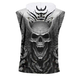 Herogameszone Angel Skull Tank Top Sleeveless With Hooded Tank Top Sleeveless With Hooded