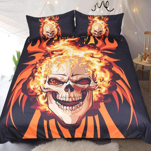 Herogameszone Angry Skull Duvet Cover Bedding Set US Full Bedding Set