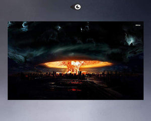 Herogameszone Atomic Bomb Canvas Printed Wall Art Canvas Printed Wall Art