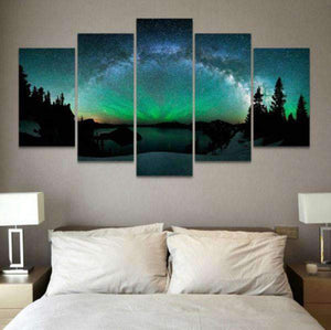 Herogameszone Aurora Borealis Canvas Canvas Printed Wall Art Canvas Printed Wall Art