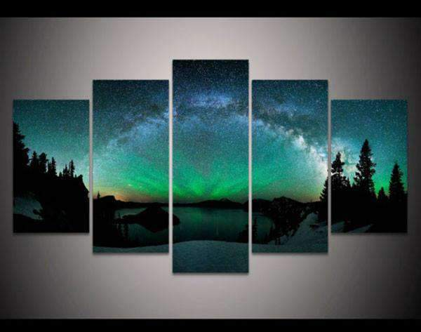 Herogameszone Aurora Borealis Canvas Canvas Printed Wall Art Medium / No Frame Canvas Printed Wall Art