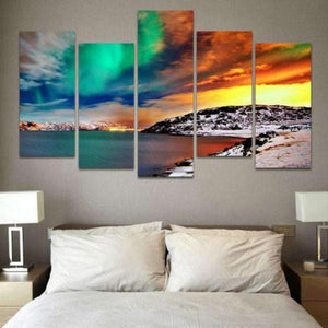 Herogameszone Aurora Borealis Canvas Printed Wall Art Canvas Printed Wall Art