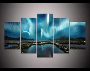 Herogameszone Aurora Borealis Canvas Printed Wall Art Medium / No Frame Canvas Printed Wall Art