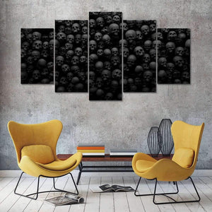 Herogameszone Black & White Skulls Canvas Printed Wall Art Canvas Printed Wall Art