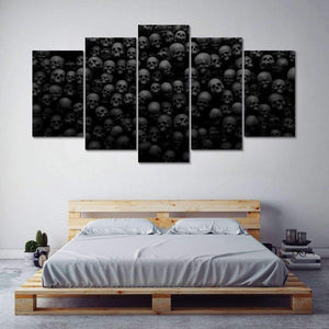 Black & White Skulls Canvas Wall Art