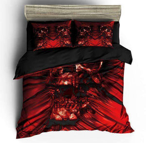 Herogameszone Bohemian Skull Duvet Cover Bedding Set Bedding Set