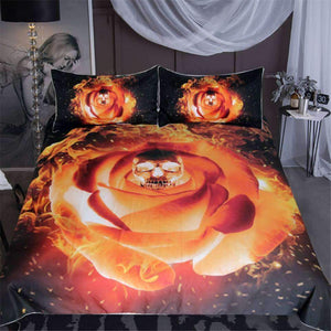 Herogameszone Burning Skull Duvet Cover Bedding Set US Full Bedding Set