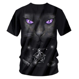 Herogameszone Cat Eye 3D T-Shirt Short Sleeve 3D T-Shirt Short Sleeve