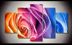 Herogameszone Colorful Rose Canvas Printed Wall Art Medium / No Frame Canvas Printed Wall Art