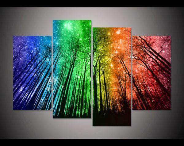 Herogameszone Colorful Sky Canvas Printed Wall Art Medium / No Frame Canvas Printed Wall Art
