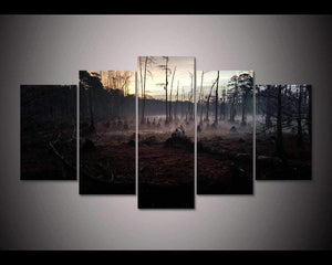 Herogameszone Dark Forest Canvas Printed Wall Art Medium / No Frame Canvas Printed Wall Art