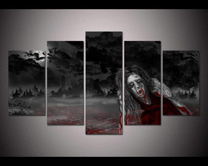 Herogameszone Dark Vampire Canvas Printed Wall Art Medium / No Frame Canvas Printed Wall Art