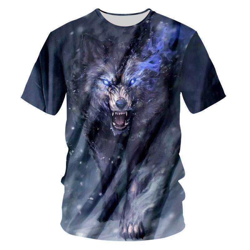 Herogameszone Dark Wolf 3D T-Shirt Short Sleeve S 3D T-Shirt Short Sleeve