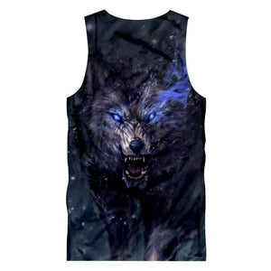 Herogameszone Dark Wolf Tank Top Sleeveless Tank Top Sleeveless