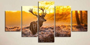 Herogameszone Deer Canvas Printed Wall Art Medium / No Frame Canvas Printed Wall Art