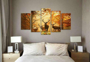 Herogameszone Deer in the Forest Canvas Printed Wall Art Canvas Printed Wall Art