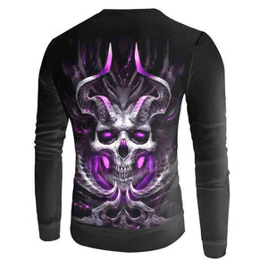 Herogameszone Devil Skull 3D Sweatshirt Long Sleeve 3D Sweatshirt Long Sleeve
