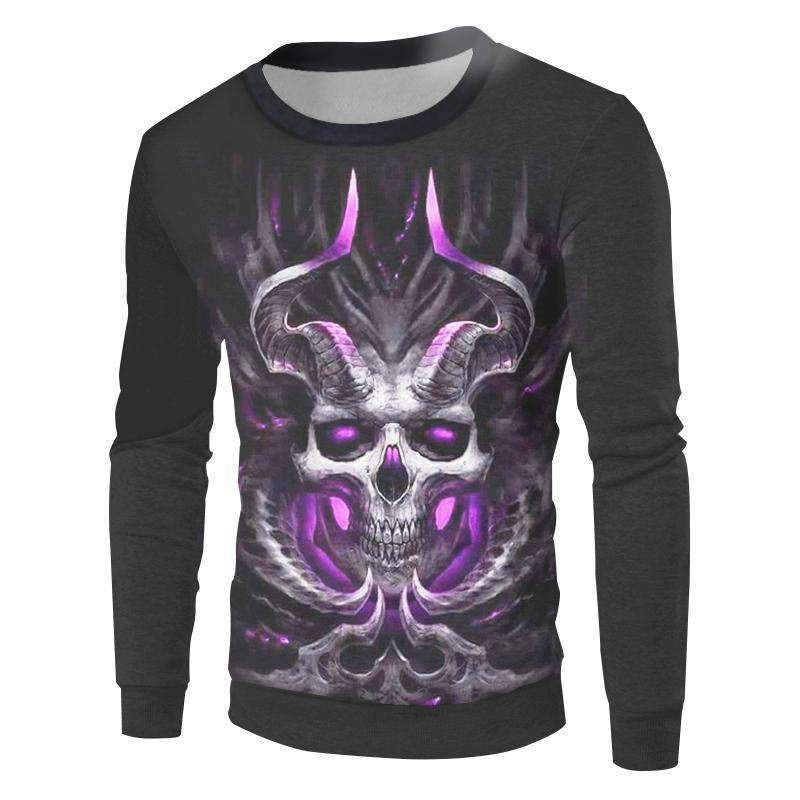 Herogameszone Devil Skull 3D Sweatshirt Long Sleeve S 3D Sweatshirt Long Sleeve