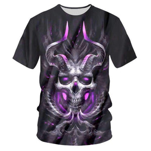 Herogameszone Devil Skull 3D T-Shirt Short Sleeve S 3D T-Shirt Short Sleeve