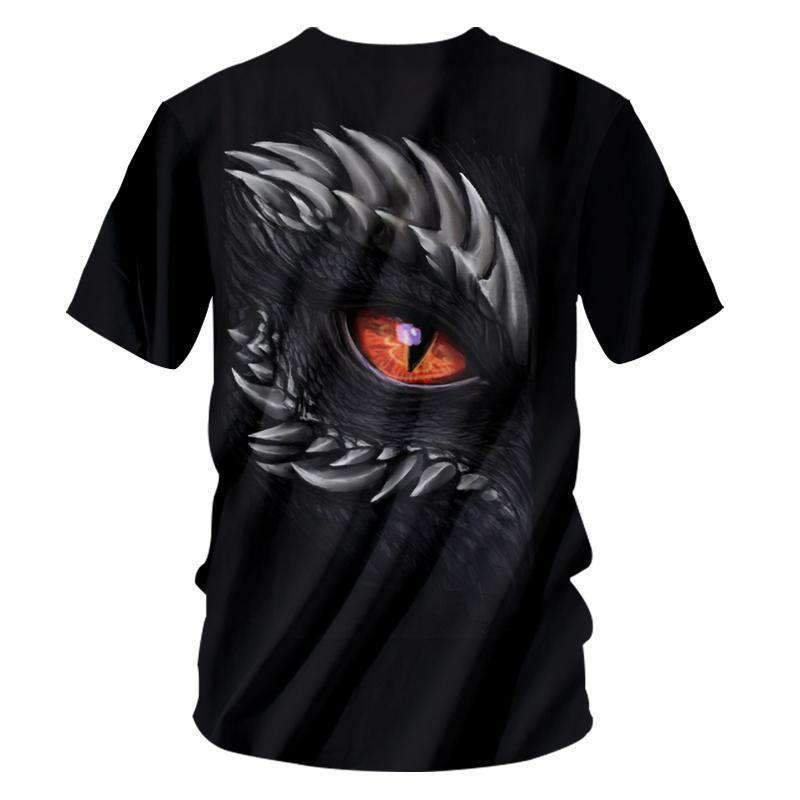 Herogameszone Dragon Eye 3D T-Shirt Short Sleeve 3D T-Shirt Short Sleeve