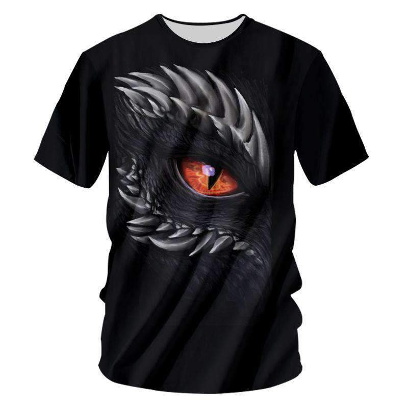 Herogameszone Dragon Eye 3D T-Shirt Short Sleeve S 3D T-Shirt Short Sleeve