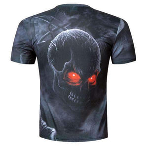 Herogameszone Evil Dark Skull 3D T-Shirt Short Sleeve 3D T-Shirt Short Sleeve