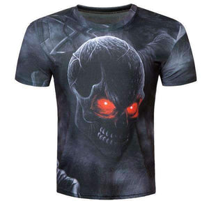 Herogameszone Evil Dark Skull 3D T-Shirt Short Sleeve M 3D T-Shirt Short Sleeve