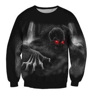 Herogameszone Evil Skull 3D Sweatshirt Long Sleeve S 3D Sweatshirt Long Sleeve