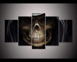 Herogameszone Evil Skull Canvas Printed Wall Art Medium / No Frame Canvas Printed Wall Art
