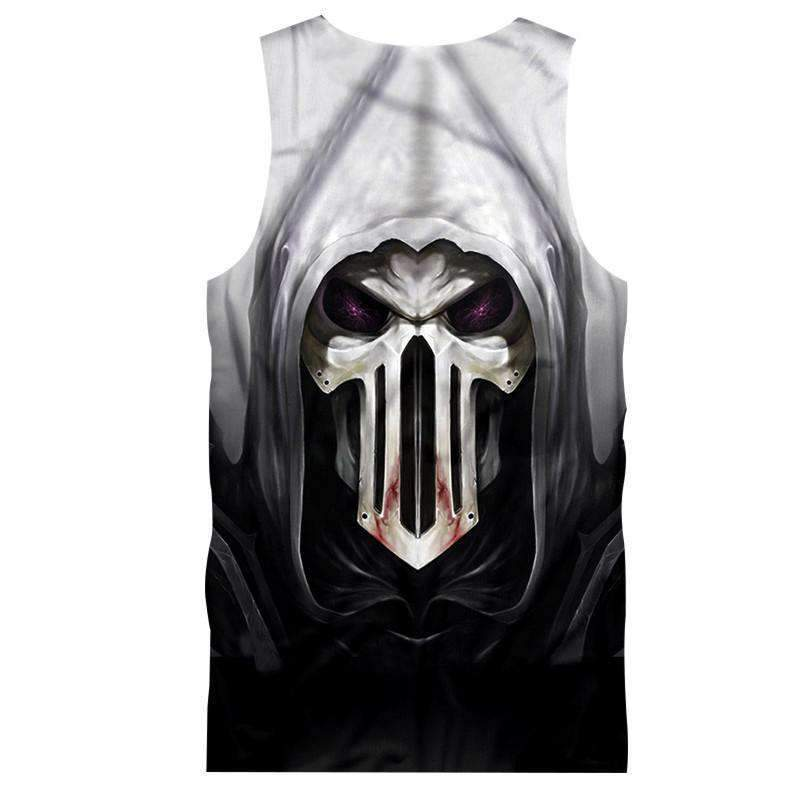 Herogameszone Evil Skull Tank Top Sleeveless Tank Top Sleeveless