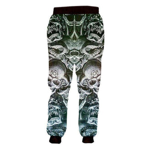 Herogameszone Evil Skulls 3D Casual Pants Long Sleeve 3D Casual Pants Long Sleeve