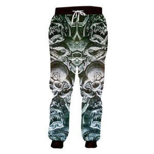 Evil Skulls 3D Casual Pants Long Sleeve