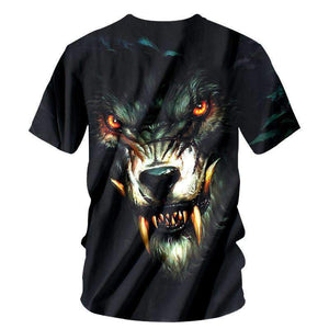 Herogameszone Evil Wolf 3D T-Shirt Short Sleeve 3D T-Shirt Short Sleeve