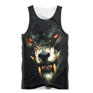 Herogameszone Evil Wolf Tank Top Sleeveless S Tank Top Sleeveless