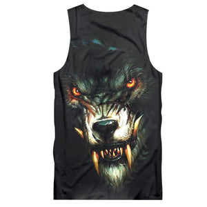 Herogameszone Evil Wolf Tank Top Sleeveless Tank Top Sleeveless