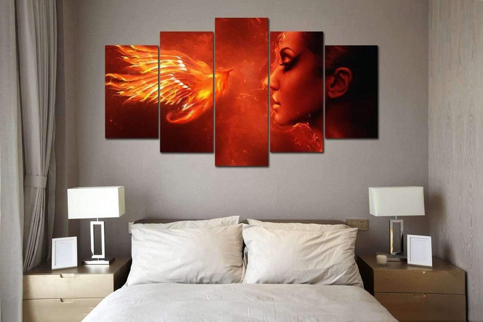 Herogameszone Fantasy Phoenix Canvas Printed Wall Art Canvas Printed Wall Art