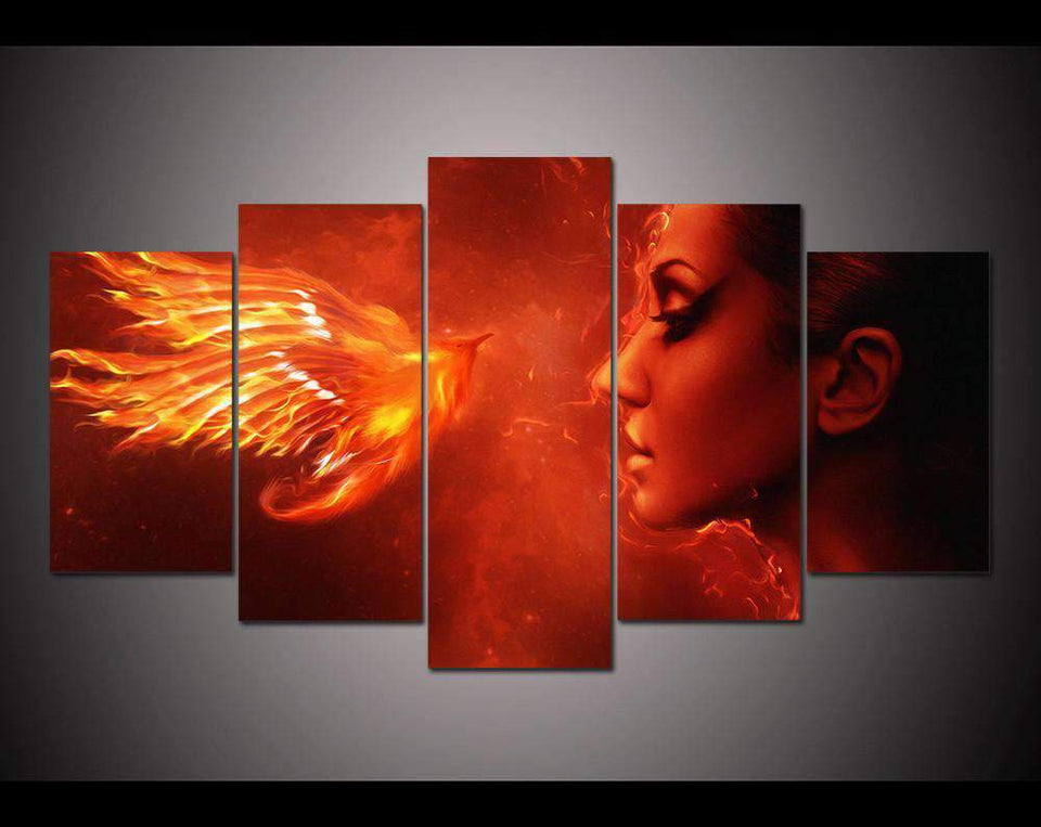 Herogameszone Fantasy Phoenix Canvas Printed Wall Art Medium / No Frame Canvas Printed Wall Art